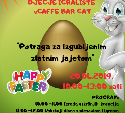 Animacijski program za djecu @Caffe bar Gat 20.4.2019.