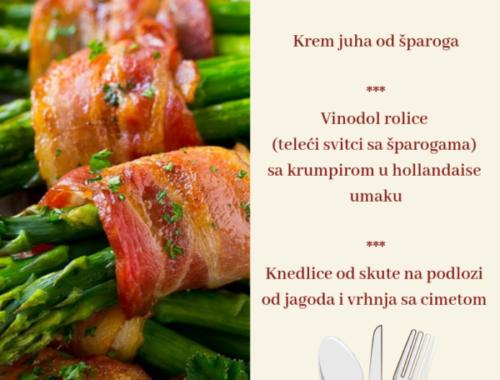 Dani šparoga i janjetine u restoranu Admiral u Novom Vinodolskom